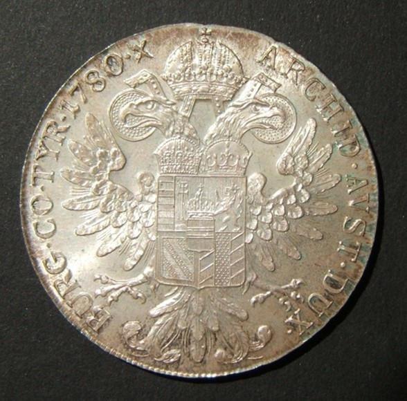 Austrian Maria Theresa silver thaler restrike variant