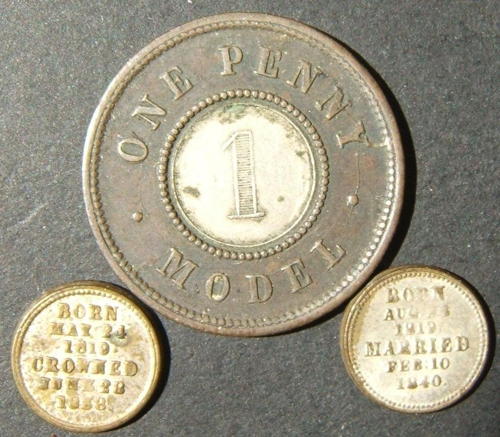 Great Britain bimetallic One Penny Model bimetallic &
