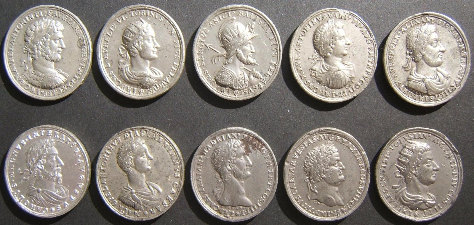 10x portait medals of Roman & Byzantine emperors by