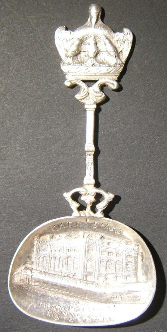 Dutch cast silver spoon for Portuguese-Jewish Synagogue