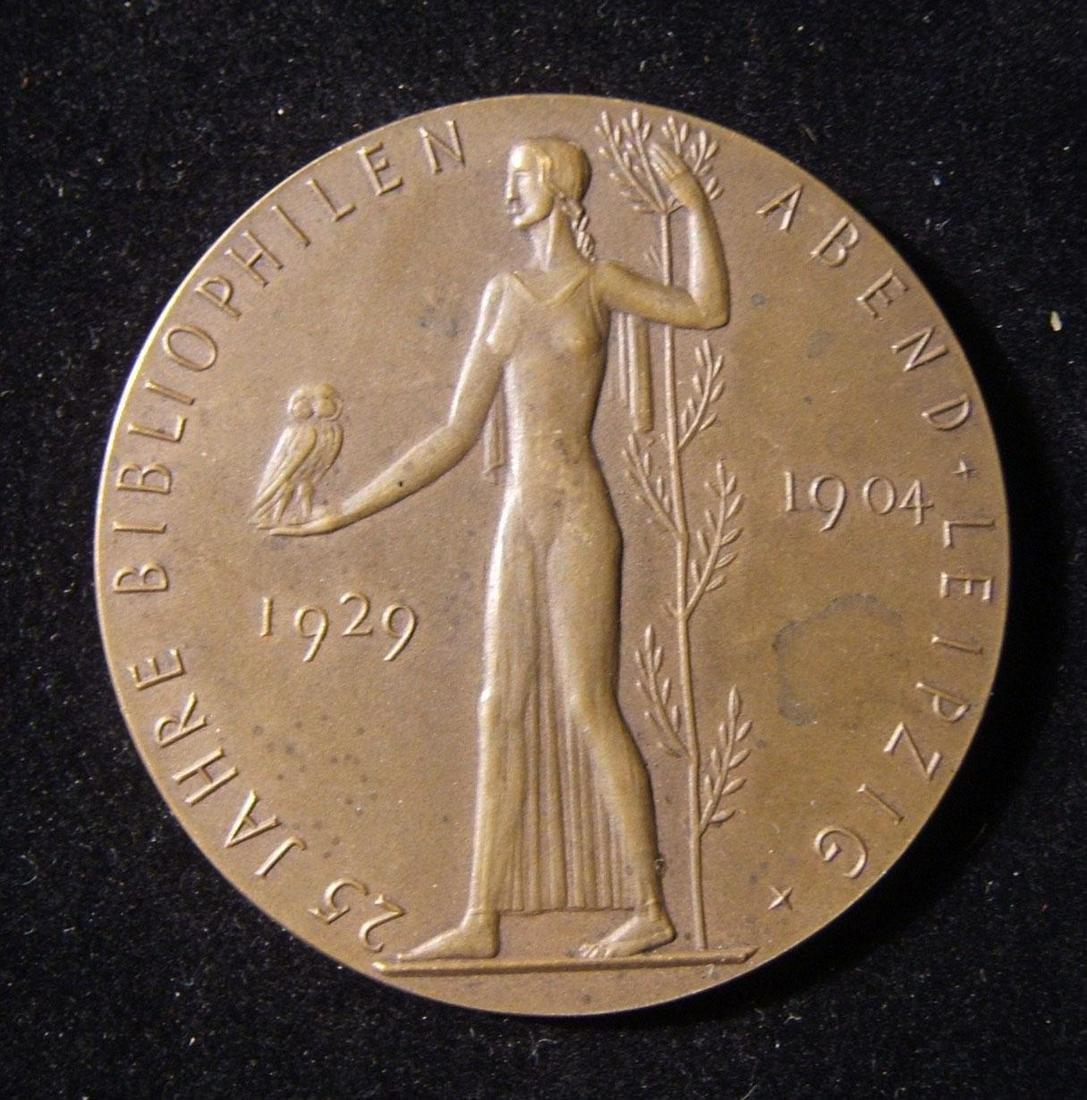 German 25th anniversary bibliophile Judaica medal for