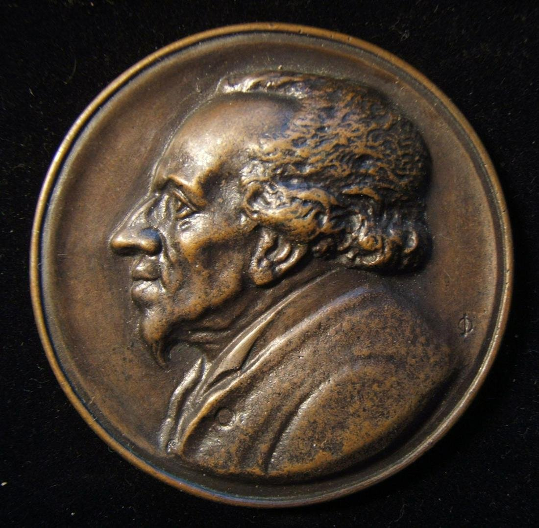 German Moses Mendelssohn medium sized relief bust