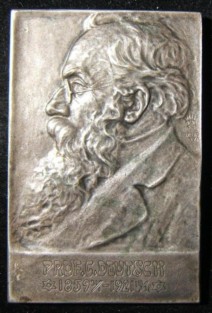Eretz Israeli Rabbi Gotthard Deutsch Judaica bronze