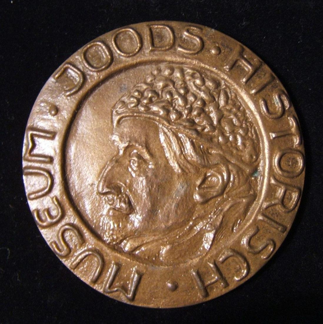 Dutch Shlomo An-ski Judaica portrait medal of Jewish