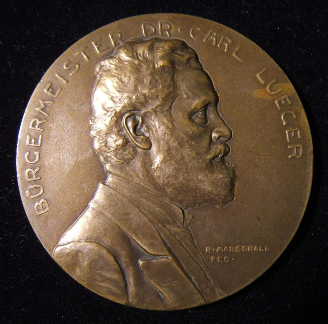 Austrian anti-Semite Karl Lueger 60th birthday medal