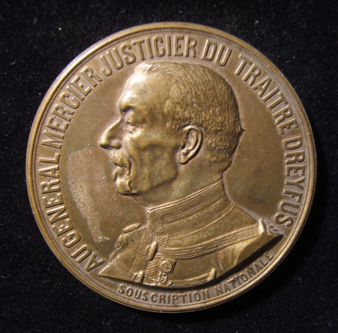 French Auguste Mercier Judge of Traitor Dreyfus