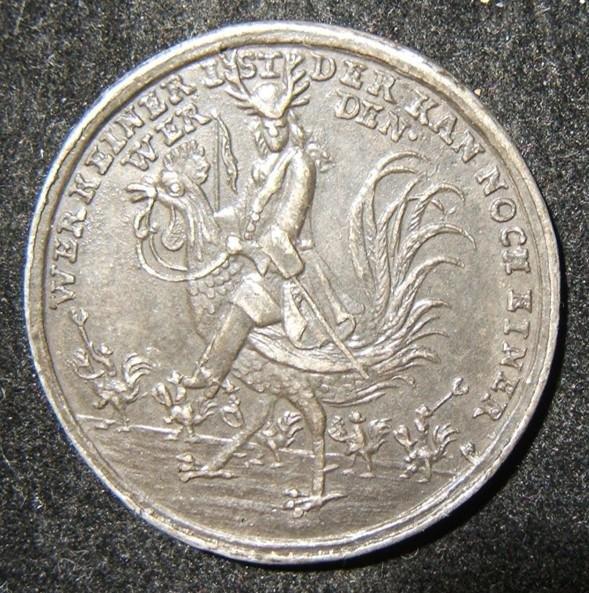 German anti-Semitic Judaica Cuckold alloy medal with