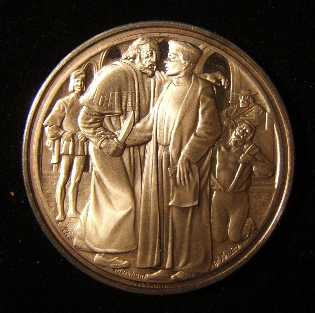 British Merchant of Venice silver Judaica medal by