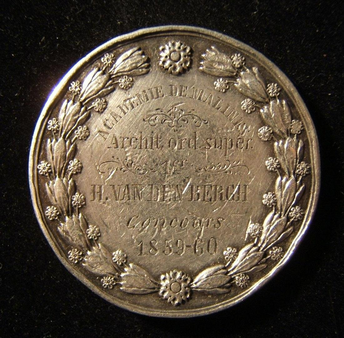 Belgian Academie de Malines 1st prize silver medal to
