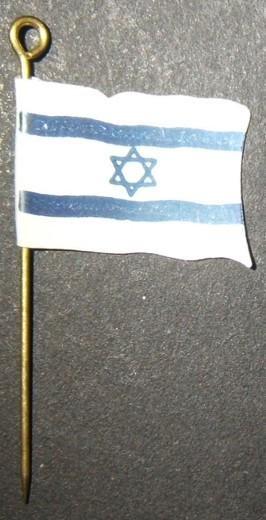 American Judaica JNF flag-shaped fundraising pin of