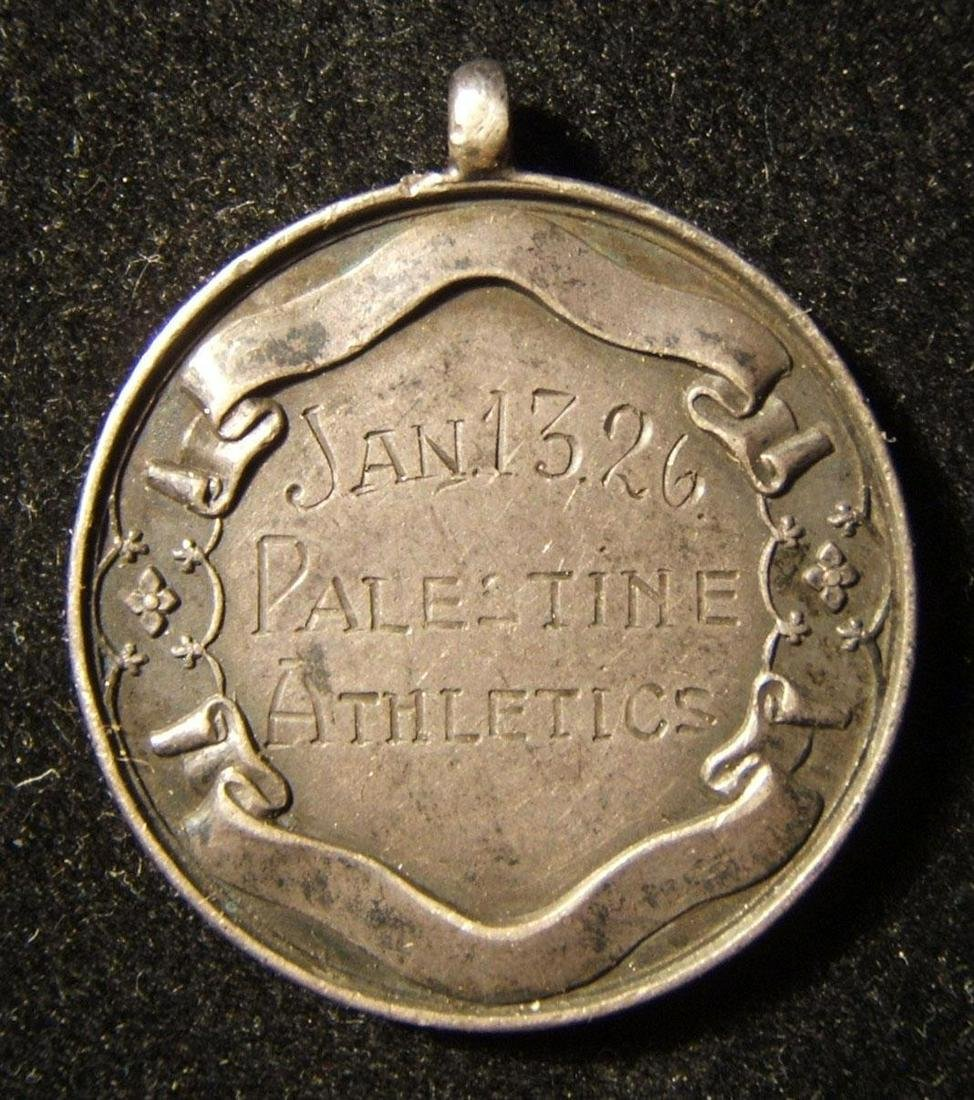 Eretz Israeli Palestine Athletics silver medal for