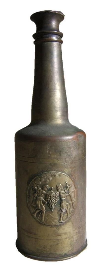 Eretz Israel/Yishuv metal bottle w/illustrated