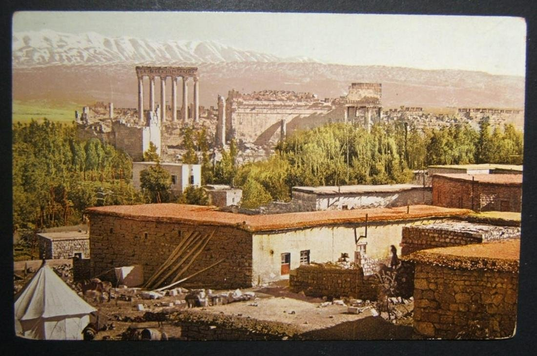 1900s Levant/Lebanon Baalbek Acropolis unused color