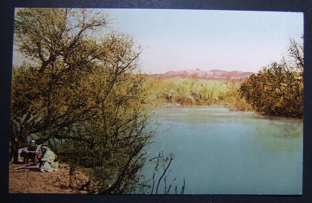 1900s Holyland/Palestine inised color picture postcard