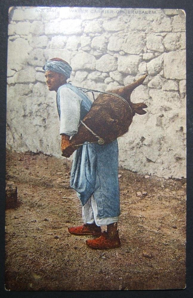 1900s Holyland/Palestine unused color picture postcard