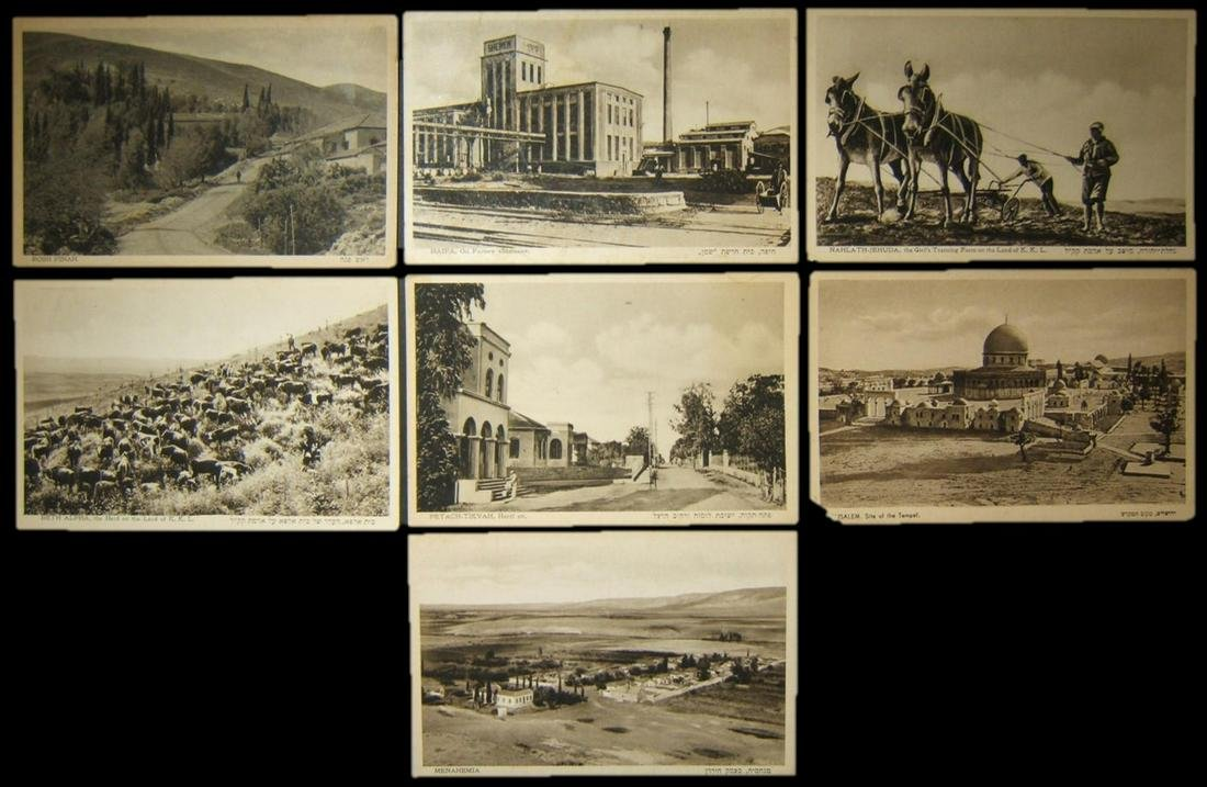 Lot 7x Eliahu Bros photo postcards various locales