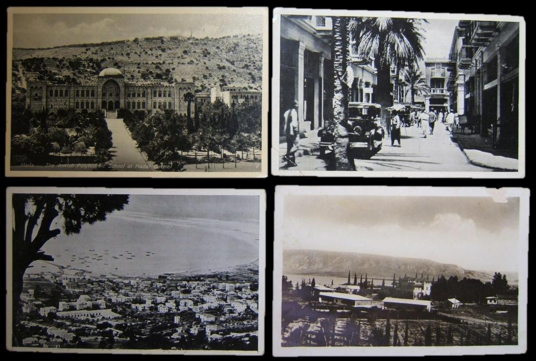 Lot 4x photo postcards 1930's Haifa & Deganiah Eretz