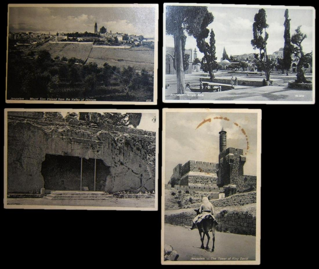 Lot 4x photo postcards of 1930's Eretz Israel Mandatory