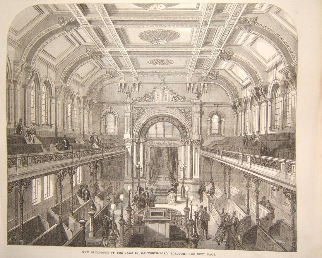 British Judica print of New Synagogue on Walworth Road,