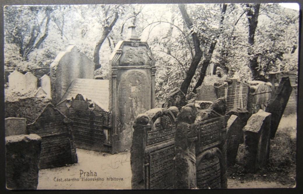Czechoslovakian Judaica picture postcard of Old Jewish