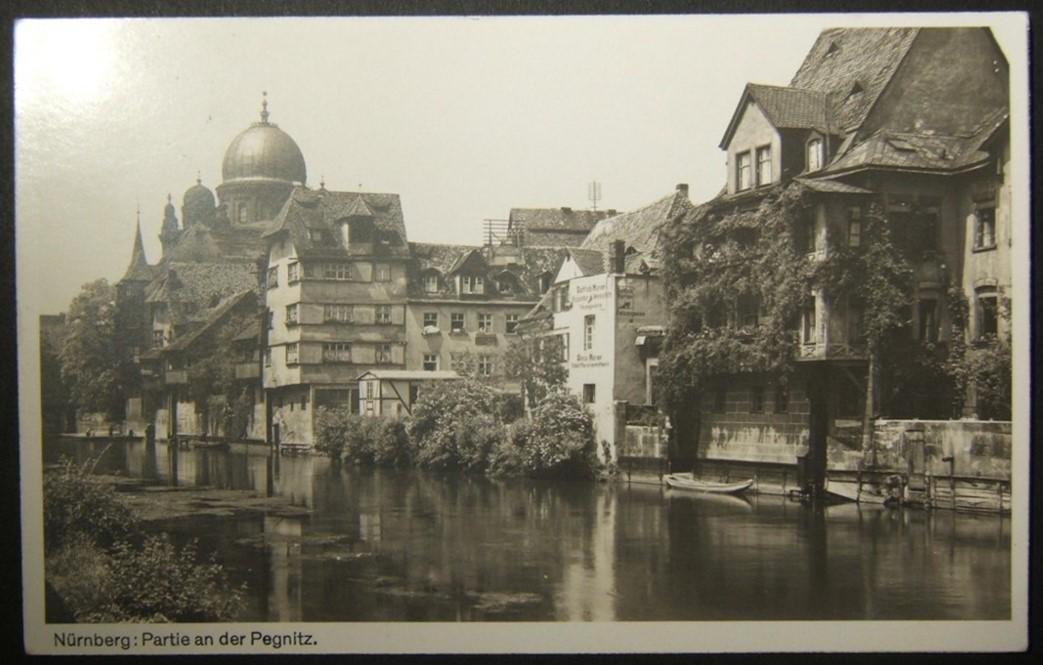 German Judaica picture postcard of Great Synagogue