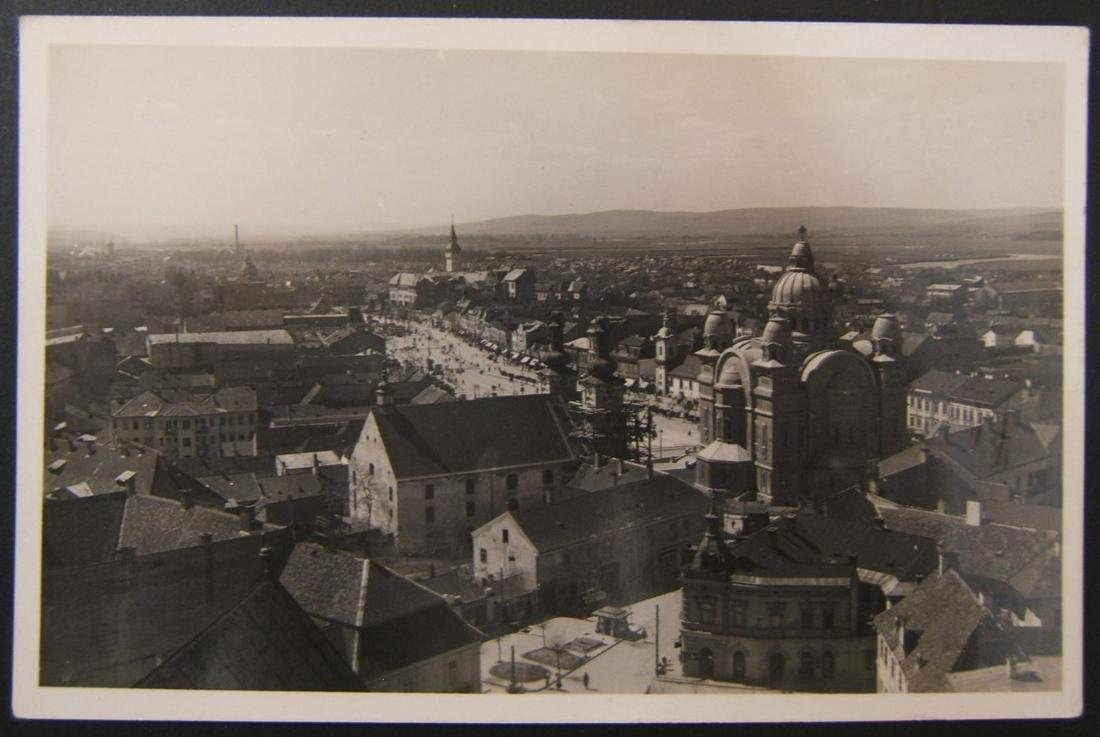 Hungarian Holocaust-era Judaica postcard of