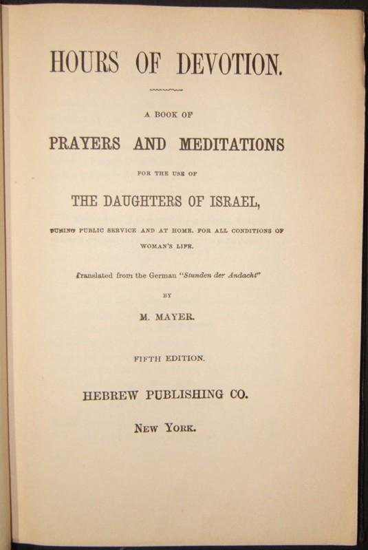 Hours of Devotion Book of Prayers for Daughters of
