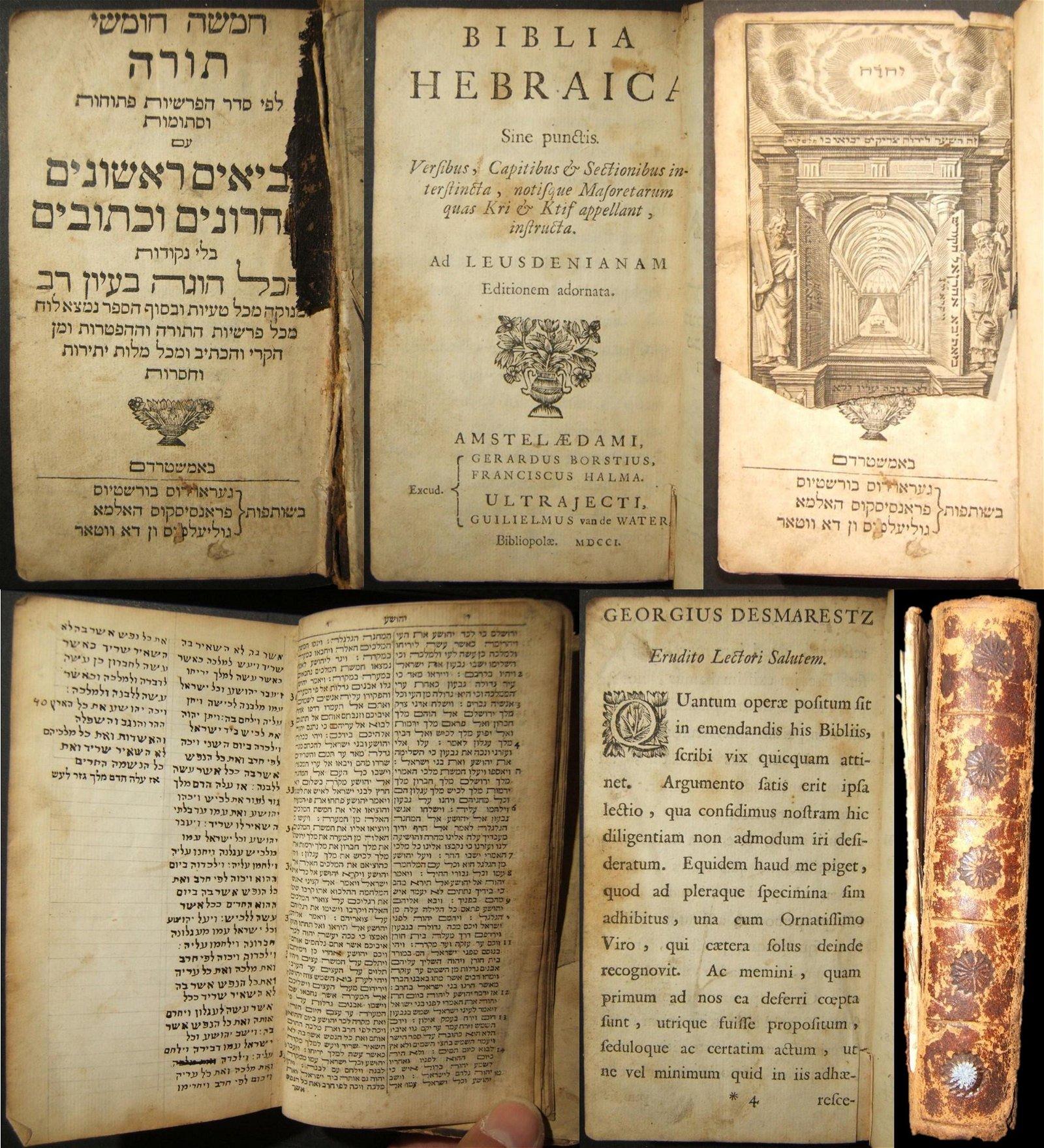 Dutch Latin/Hebrew Biblia Hebraica Tanach, part 2;