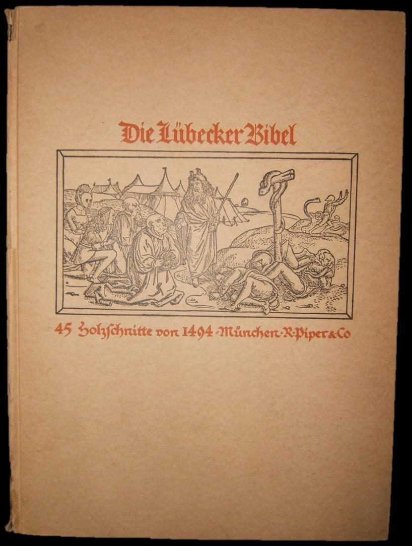Die Lubecker Bibel Bible 45 Woodcuts from 1494 book,