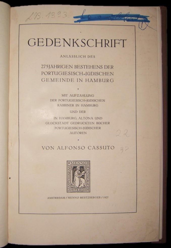 German Portuguese-Jewish Community 275 year anniversary