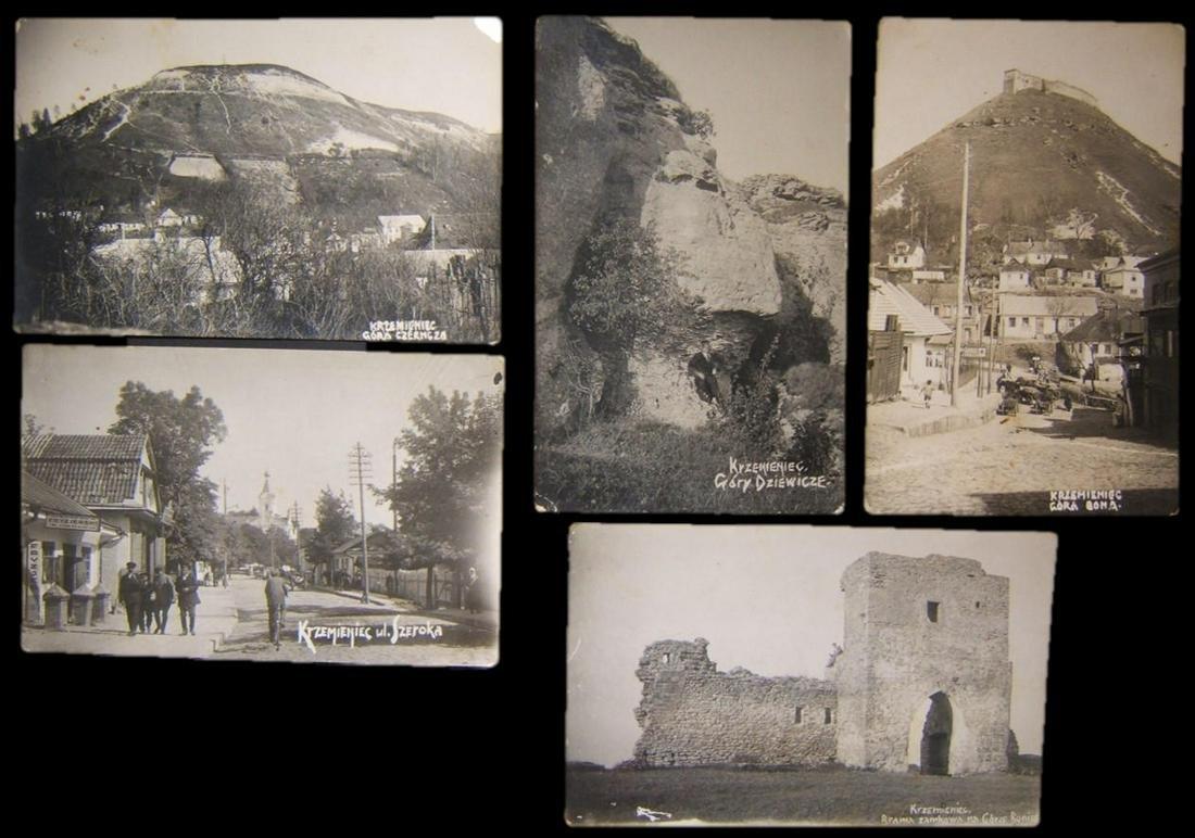 Lot 5x photo postcards Polish Kremenets by Hebrew Eretz