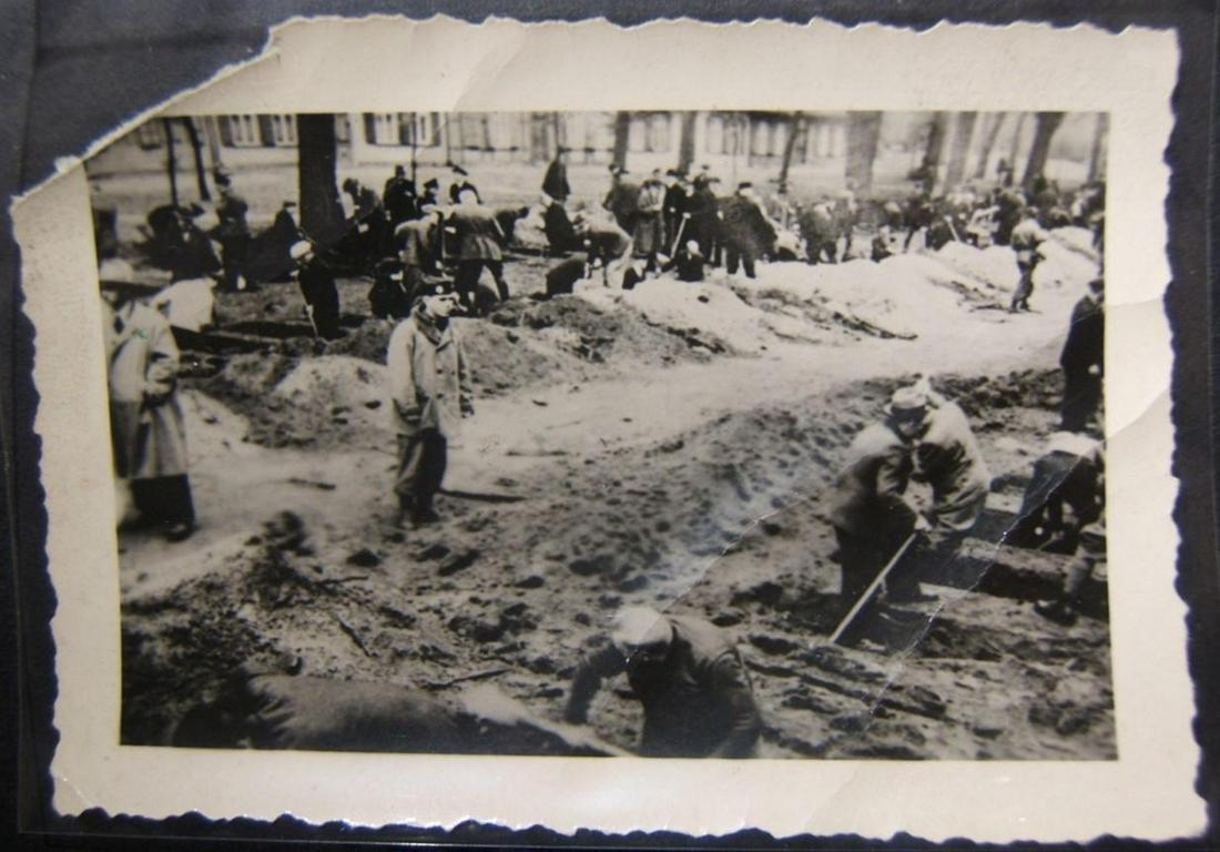 Original Holocaust artifact photograph of civilians