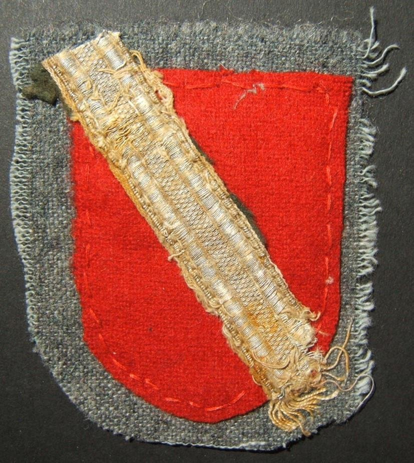 Handmade military patch of WWII collaborationist