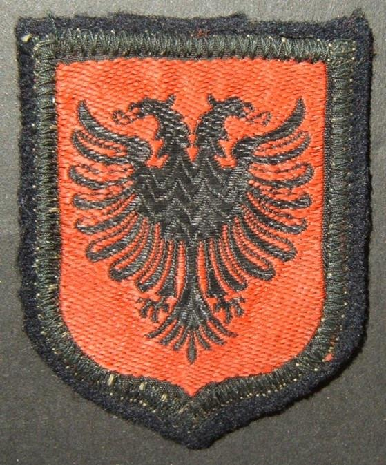 Military patch WWII collaborationist Albanian soldier