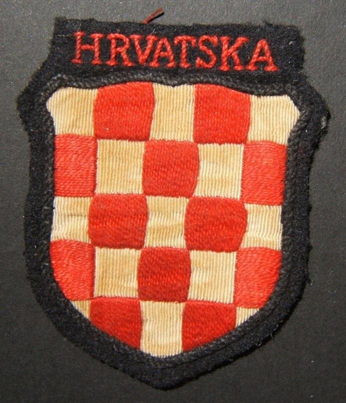 Military patch of WWII collaborationist Croatian