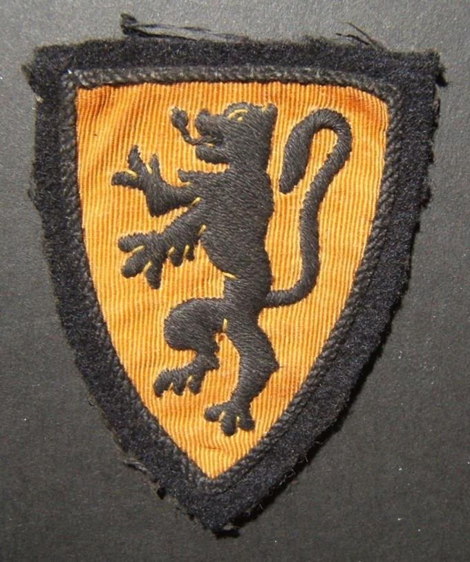 Military patch WWII collaborationist Belgian-Flemish