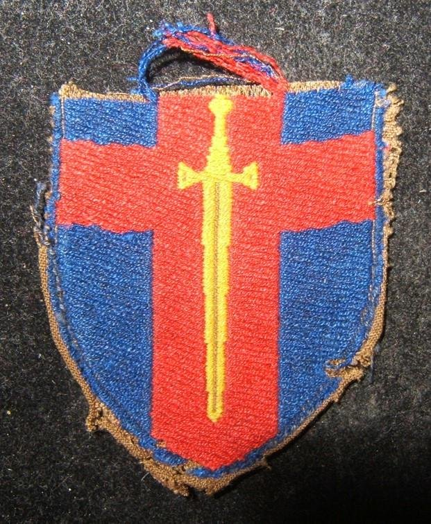 British Army on the Rhine BAOR cloth patch of the Rhine