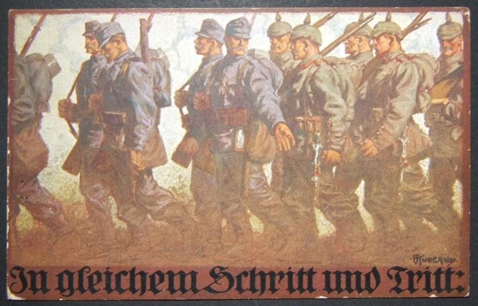 German/Austro-Hungarian WWI illustrated color