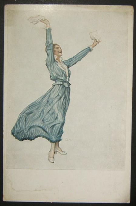 German WWI illustrated color propaganda Heimat postcard