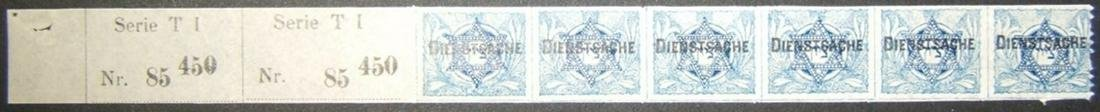 JNF/Jewish National Fund/KKL 1903 Turkish Dienstache 6x