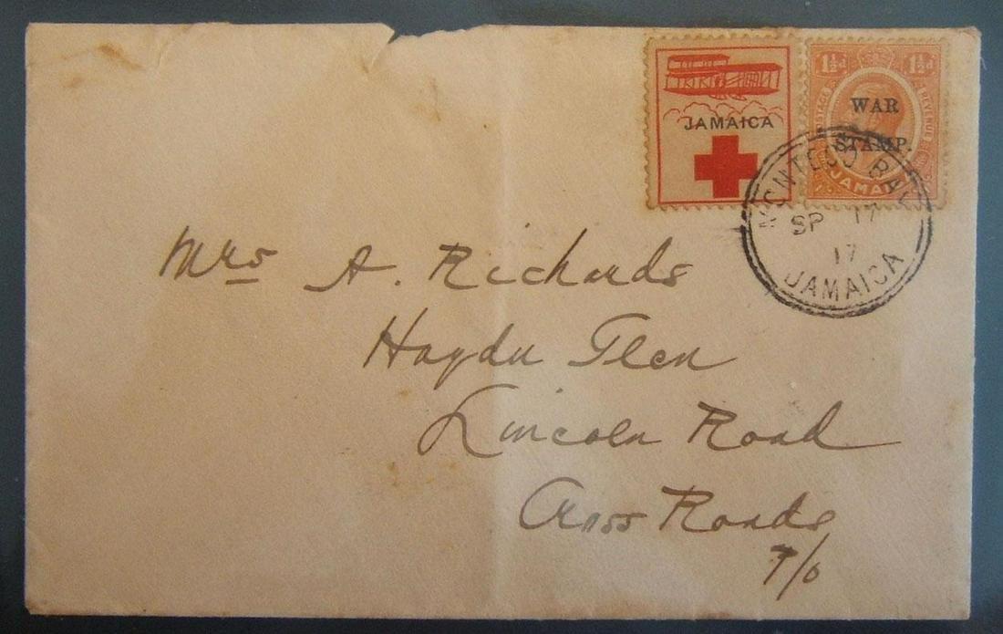 WWI era Jamaica Patriotic Stamp League commercial
