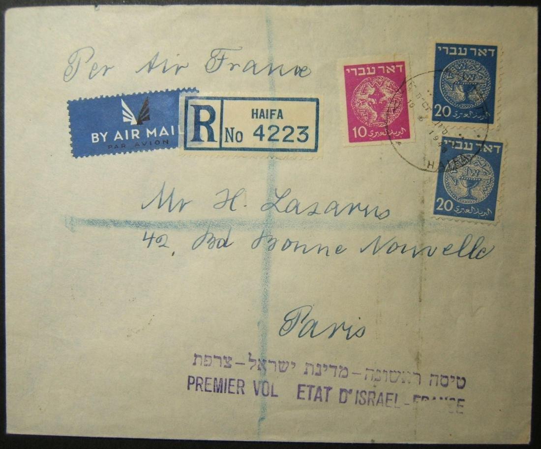 10-6-1948 reg a/m ex 1st Air France flight to PARIS;