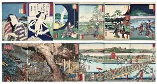 Utagawa Kunisada und Utagawa Hiroshige—Album mit 12