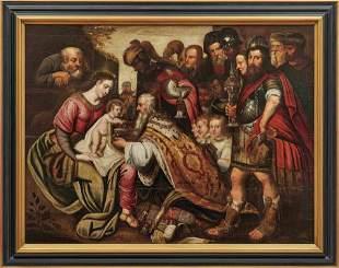 Francken, Frans - Umkreis — Anbetung des Jesuskindes
