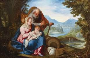 Die Heilige Familie bei der Rast auf der Flucht nach