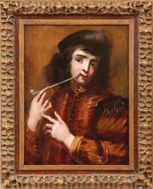 Cossiers, Jan — Junger Mann mit Tabakpfeife