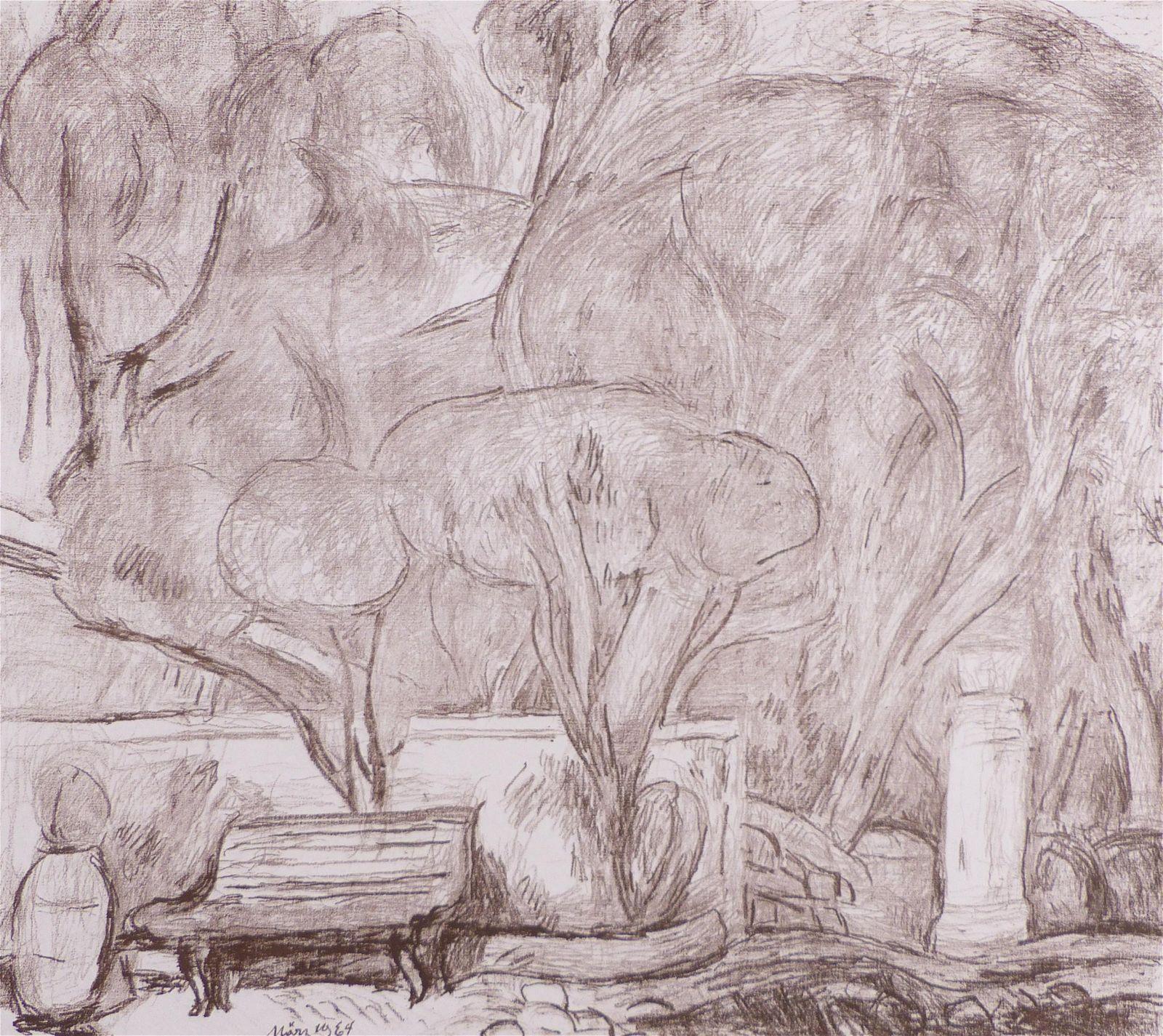 Purrmann, Hans — Garten in Levanto