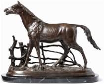 Mène, Pierre-Jules — Pferd auf der Koppel —
