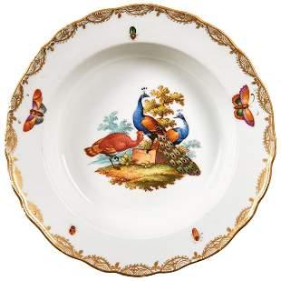 Sechs Teller mit Vogeldekor Meissen 19 Jh