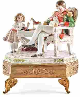 Der schlafende Napoleon mit seinem Sohn Napoleon Franz